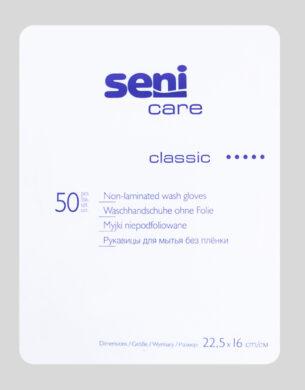 SENI CARE Classic Žínka na mytí pro dospělé bez fólie á 50 ks