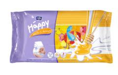 Vlhčené ubrousky Happy Mléko & Med