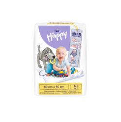 HAPPY dětské hygienické podložky 60x60 cm á 5 ks